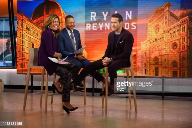 Hoda Kotb, Craig Melvin and Ryan Reynolds on Thursday, December 12, 2019 --