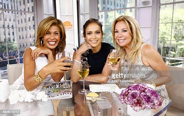 Hoda Kotb Jennifer Lopez and Kathie Lee Gifford appear on NBC News' Today show