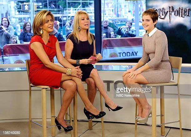 Hoda Kotb Kathie Lee Gifford and Emma Watson appear on NBC News' Today show