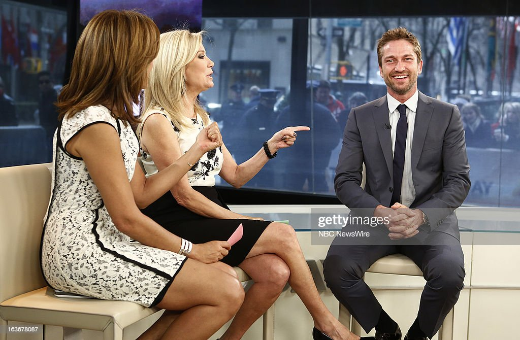 Hoda Kotb, Kathie Lee Gifford and Gerard Butler appear on NBC News' 'Today' show --