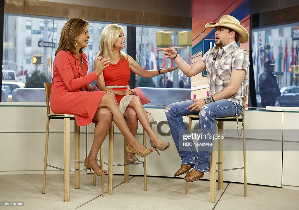 Hoda Kotb, Kathie Lee Gifford and Jason Aldean appear on NBC News' 'Today' show --