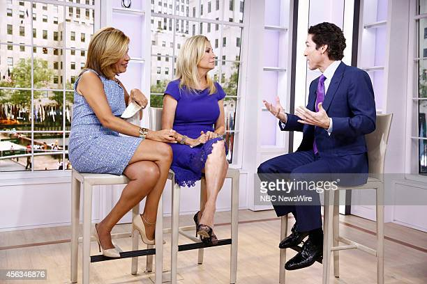 Hoda Kotb Kathie Lee Gifford and Joel Osteen appear on NBC News' 'Today' show