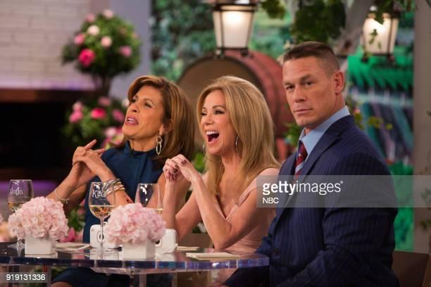 Hoda Kotb Kathie Lee Gifford and John Cena on February 7 2018