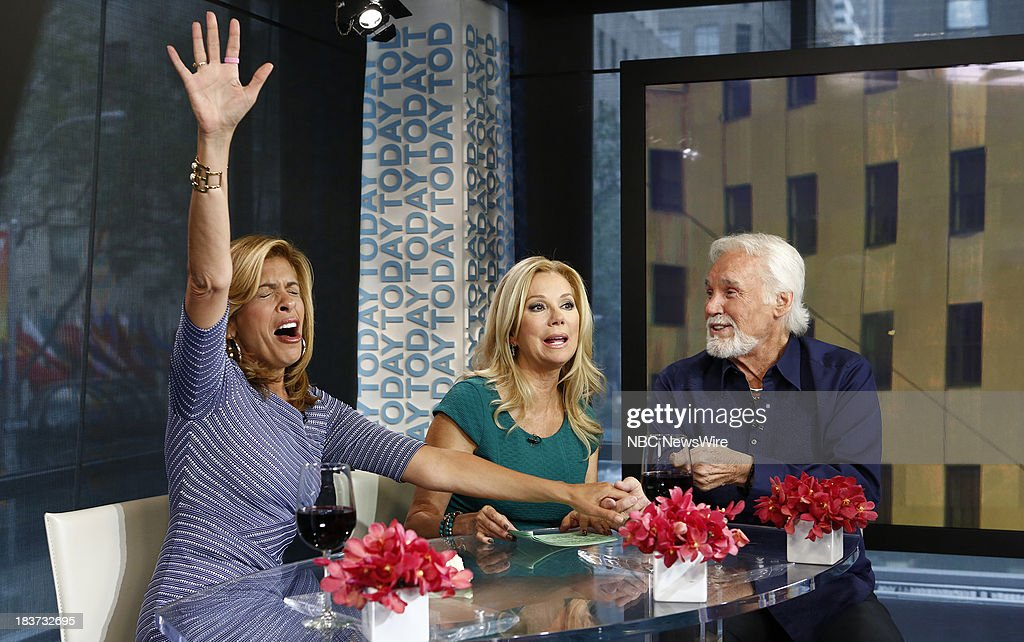 Hoda Kotb, Kathie Lee Gifford and Kenny Rogers appear on NBC News' 'Today' show --