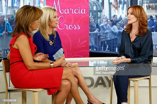 Hoda Kotb Kathie Lee Gifford and Marcia Cross appear on NBC News' Today show