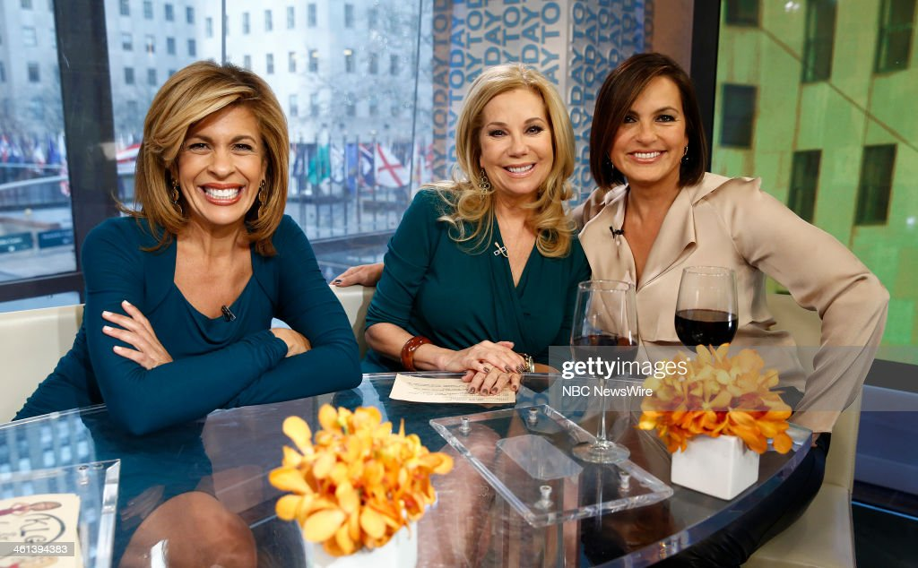 Hoda Kotb, Kathie Lee Gifford and Mariska Hargitay appear on NBC News' 'Today' show --