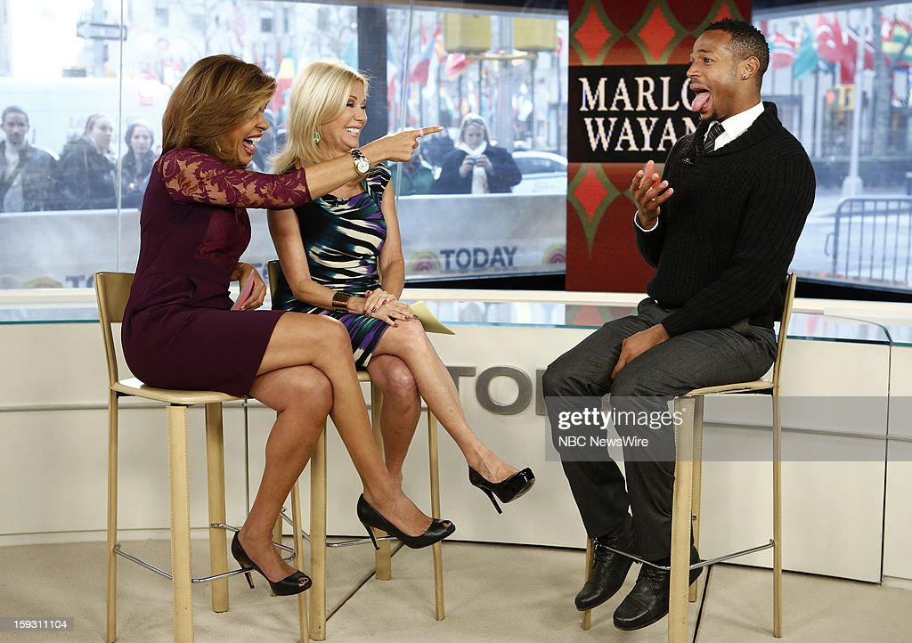 Hoda Kotb, Kathie Lee Gifford and Marlon Wayans appear on NBC News' 'Today' show --