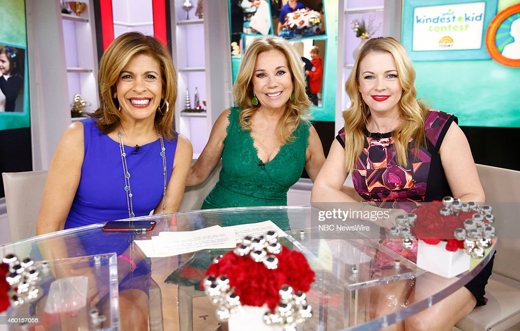 Hoda Kotb, Kathie Lee Gifford and Melissa Joan Hart appear on NBC News' 'Today' show --