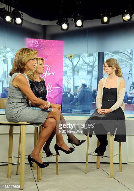 Hoda Kotb Kathie Lee Gifford and Taylor Swift appear on NBC News' 'Today' show