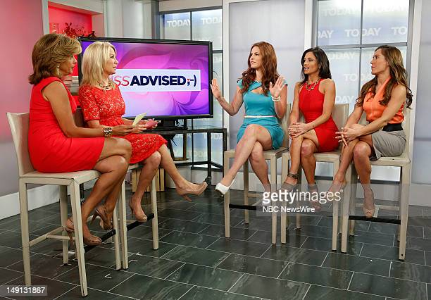 Hoda Kotb Kathie Lee Gifford Julia Allison Emily Morse and Amy Laurent appear on NBC News' Today show