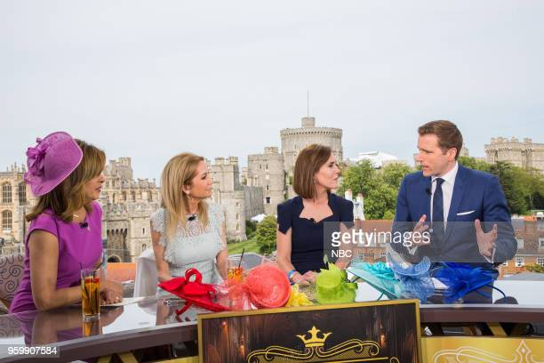 Hoda Kotb Kathie Lee Gifford royal editor Camilla Tominey and CNBC anchor Wilfred Frost for the wedding of Prince Harry and Meghan Markle at Windsor...
