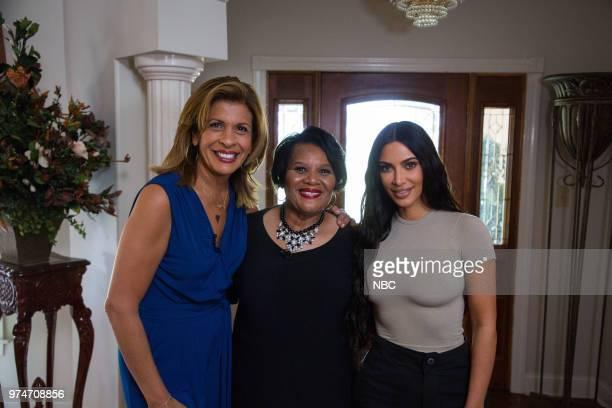 Hoda Kotb Kim Kardashian West and Alice Johnson on Wednesday June 13 2018
