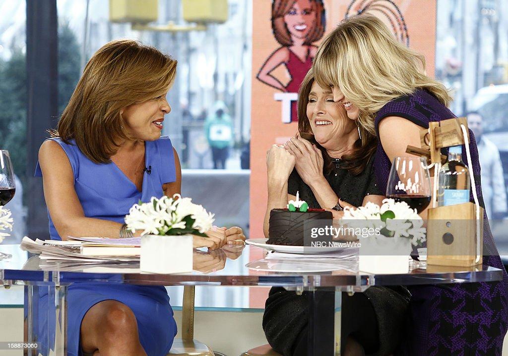 Hoda Kotb, Meredith Vieira and Sara Haines appear on NBC News' 'Today' show --