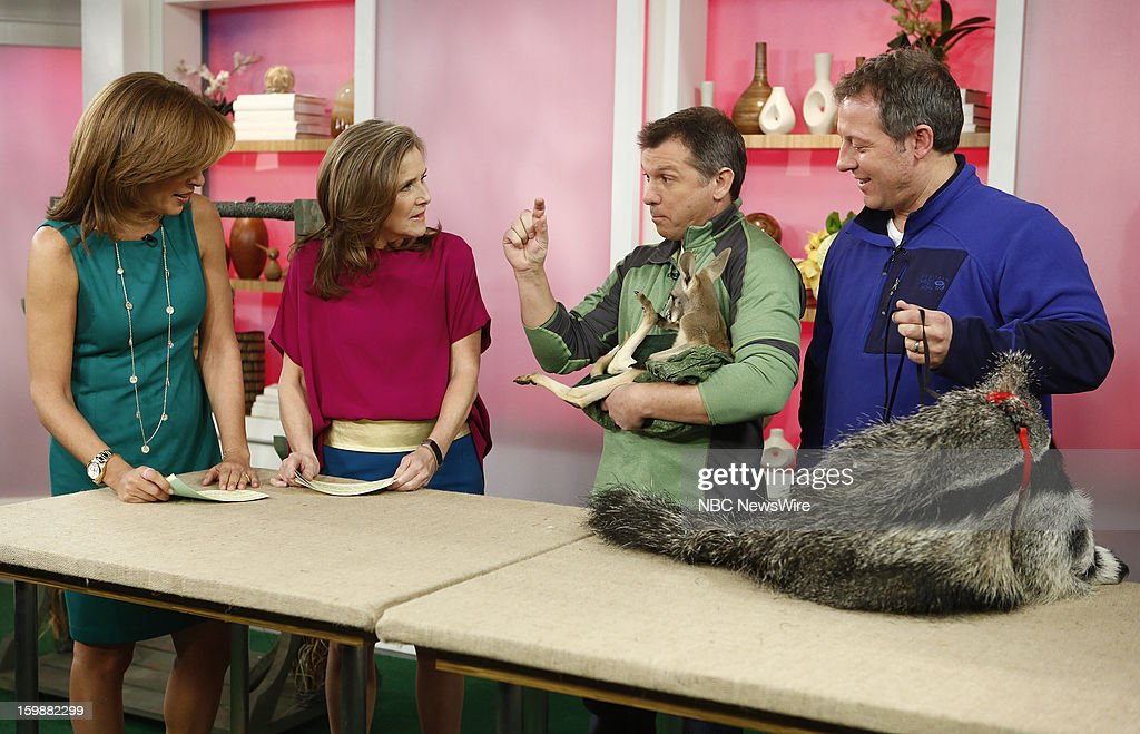 Hoda Kotb, Meredith Vieira, Martin Kratt and Chris Kratt appear on NBC News' 'Today' show --
