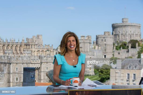 Hoda Kotb on the TODAY show set in advance of the wedding of Prince Harry and Meghan Markle at Windsor Castle on May 17 2018 in Windsor England