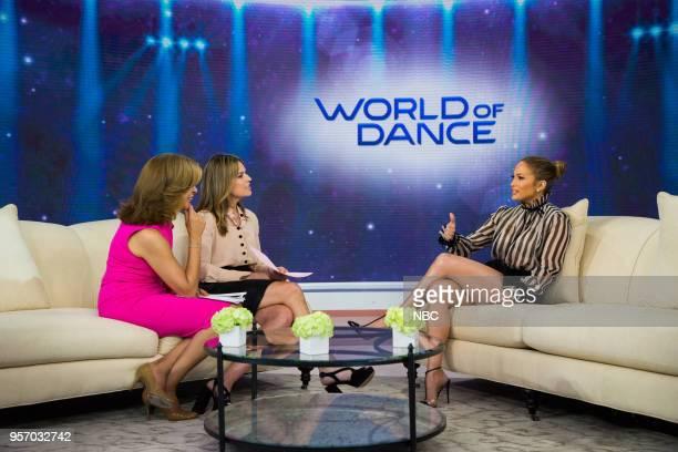 Hoda Kotb, Savannah Guthrie and Jennifer Lopez on Wenesday, May 9, 2018 --