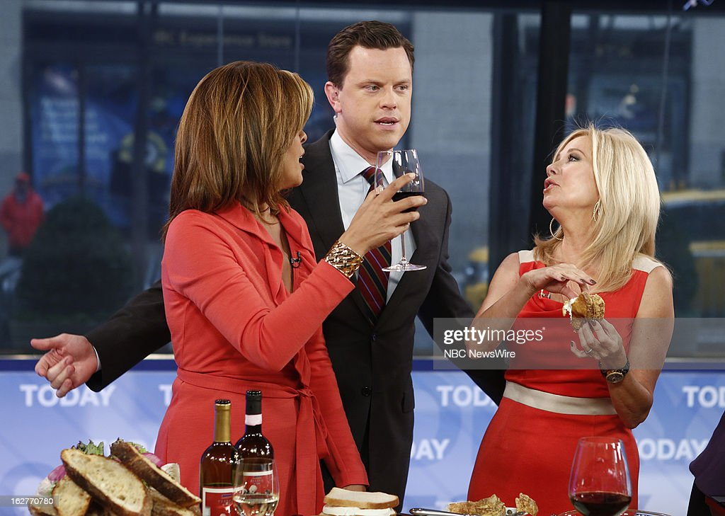 Hoda Kotb, Willie Geist and Kathie Lee Gifford appear on NBC News' 'Today' show --