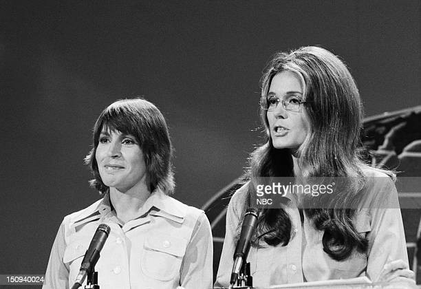 Pictured: Host Helen Reddy, feminist/activist Gloria Steinem --
