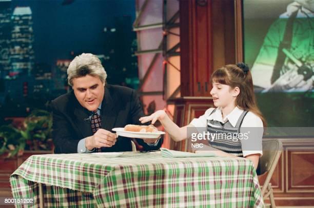 Host Jay Leno during the 'Kid Inventors' segment on February 9 1998
