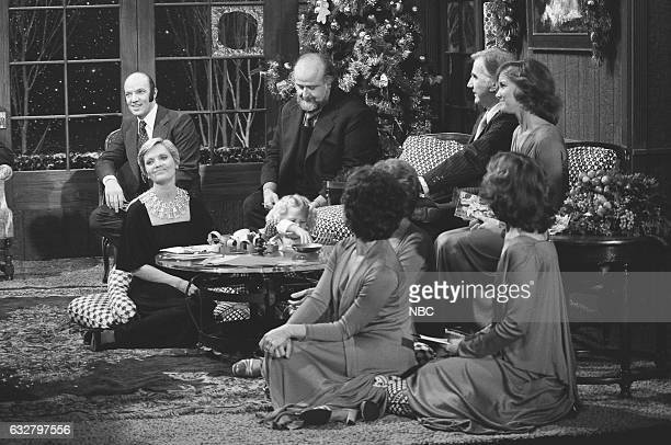 Host John Davidson's family Actor Victor Bruno Actress Florence Henderson and Musical group The Lennon Sisters Celebrating the Holidays on December...