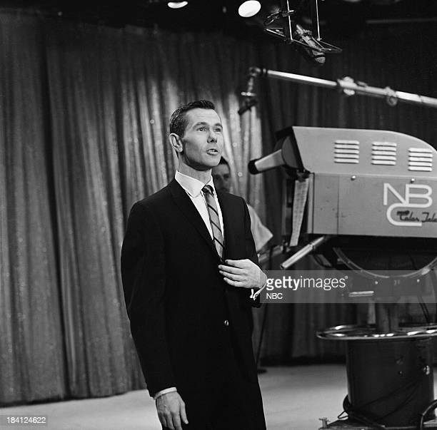 Host Johnny Carson during his monologue on December 6 1962