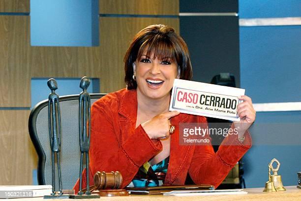Host/judge Dr Ana Maria Polo Host CASO CERRADO Fotografa Dra Ana Mara Polo