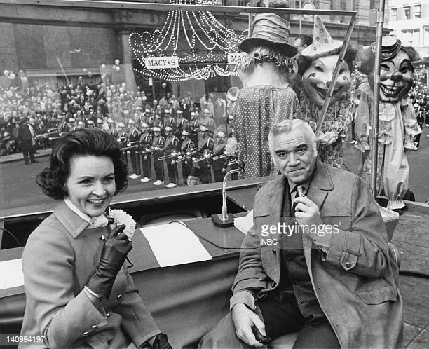 Hosts Betty White Lorne Greene during 1966 Macy's Thanksgiving Day Parade Photo by NBCU Photo Bank