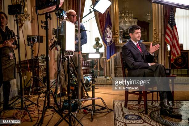 House Speaker Paul Ryan appears in a pre taped interview on Meet the Press in Washington DC Friday February 3 2017
