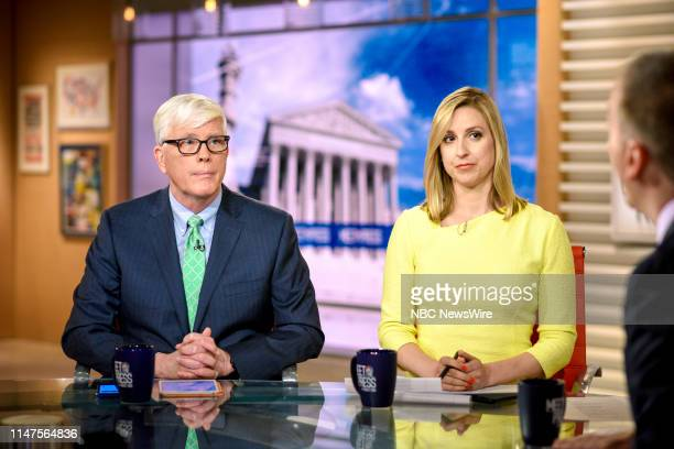 Hugh Hewitt Radio Host The Hugh Hewitt Show and Carol Lee NBC News Correspondent appear on Meet the Press in Washington DC Sunday June 2 2019