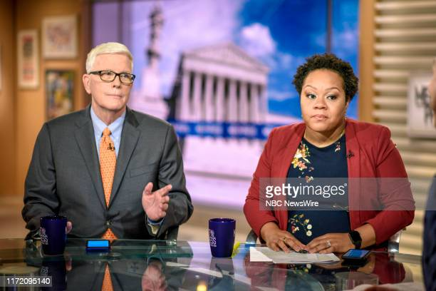 """Pictured: Hugh Hewitt, Radio Host, The Hugh Hewitt Show, and Yamiche Alcindor, White House Correspondent, PBS NewsHour, appear on """"Meet the Press"""" in..."""
