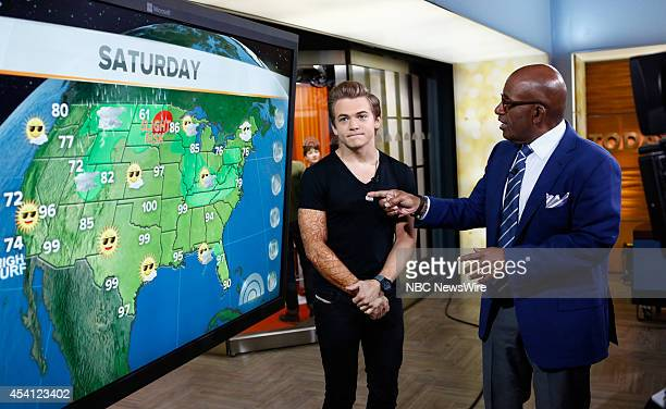 Hunter Hayes and Al Roker appear on NBC News' 'Today' show