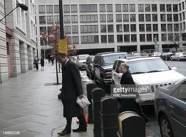 I Lewis 'Scooter' Libby Vice President Dick Cheney's former chief of staff walks to the US District Court in Washington accompanied by his attorney...