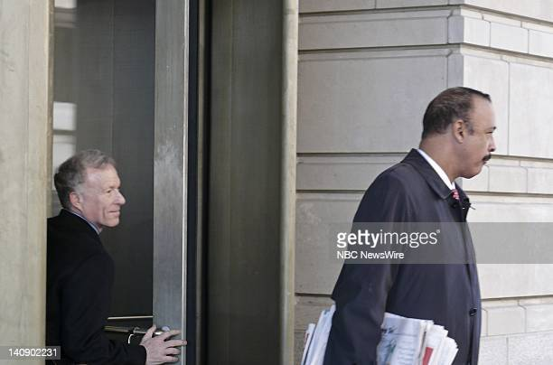 I Lewis 'Scooter' Libby Vice President Dick Cheney's former chief of staff walks from the US District Court in Washington accompanied by his attorney...