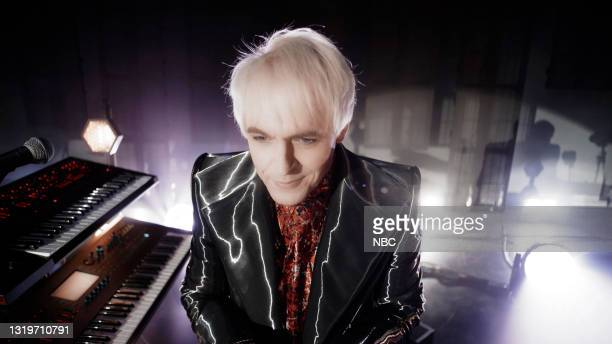 Pictured: In this screengrab released on May 23, Nick Rhodes of Duran Duran performs from the Hammersmith Apollo in London for the 2021 Billboard...