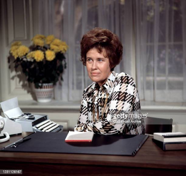 Pictured is Erma Bombeck in the CBS television special, THE SHAPE OF THINGS. Air dated. October 19, 1973. A comedy/variety program, hosted and...