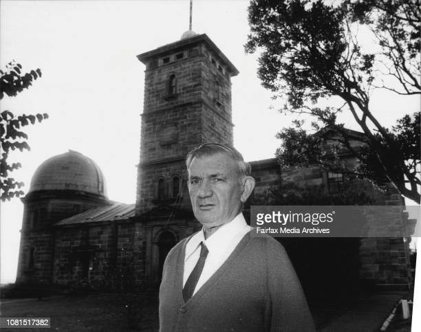 Pictured is NSW Government Astronomer Mr Bill Robertson outside the Observatory June 29 1982
