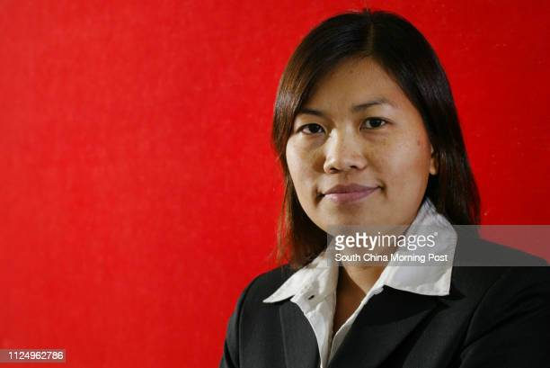 Pictured is prison warden Fung Meiyi in her work uniform This is for a feature story about the plight of prison wardens They are under a lot of work...