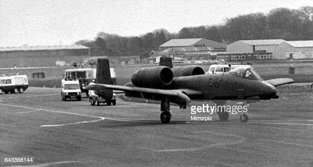 Pictured is the second USAF Fairchild Republic A10 Thunderbolt II close air support 'tankbuster' aircraft in three weeks to make an emergency landing...