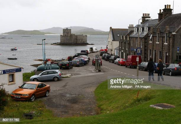 Pictured is the village of Castlebay on the Isle of Barra, Outer Hebrides. The most southerly of the inhabited islands in the Outer Hebrides, Barra...