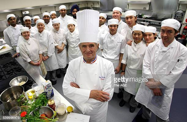Pictured is world renowned chef Paul Bocuse with students at William Angliss College in Melbourne today Monday the 5th of June 2006 THE AGE NEWS...