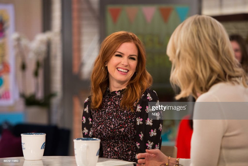 Isla Fisher and Megyn Kelly on Thursday, October 12, 2017 --