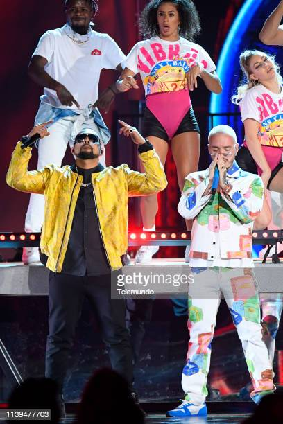 Pictured: J Balvin and Sean Paul perform at the Mandalay Bay Resort and Casino in Las Vegas, NV on April 25, 2019 --