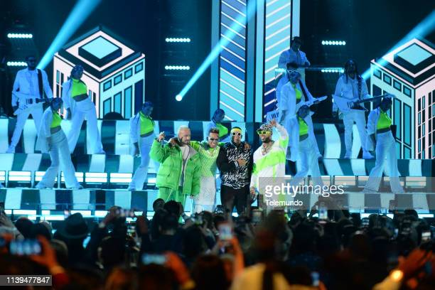 J Balvin Ozuna Daddy Yankee and DJ Snake perform at the Mandalay Bay Resort and Casino in Las Vegas NV on April 25 2019