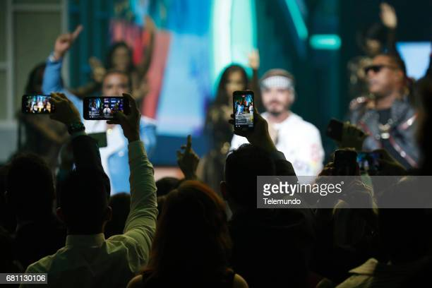 J Balvin performs on stage at the Watsco Center in the University of Miami Coral Gables Florida on April 27 2017