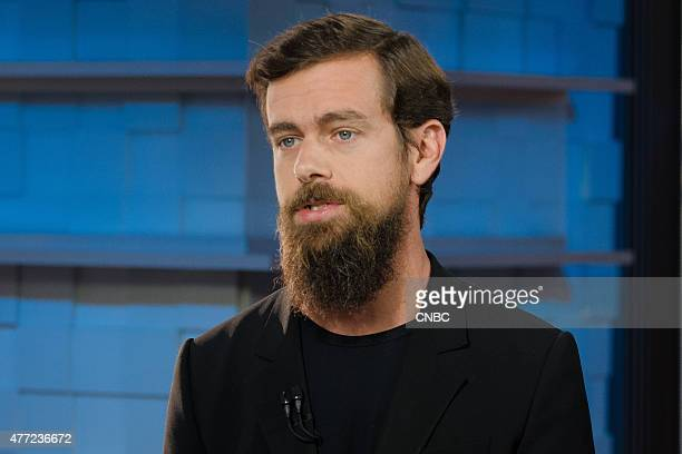 Jack Dorsey cofounder of Twitter and justnamed interim CEO of Twitter in an interview at CNBC's San Francicso bureau on June 12 2015