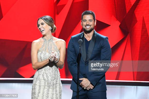 Pictured: Jacky Bracamontes and J.R. Ramirez at the Mandalay Bay Resort and Casino in Las Vegas, NV on April 25, 2019 --