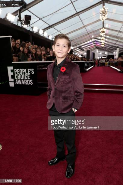 Pictured: Jacob Tremblay arrives to the 2019 E! People's Choice Awards held at the Barker Hangar on November 10, 2019. -- NUP_188990