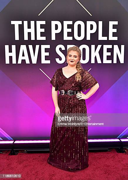 Jaicy Elliot arrives to the 2019 E People's Choice Awards held at the Barker Hangar on November 10 2019 NUP_188994