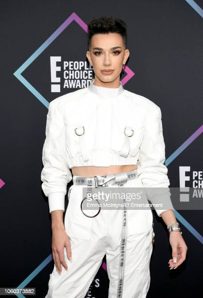 Pictured: James Charles arrives to the 2018 E! People's Choice Awards held at the Barker Hangar on November 11, 2018 -- NUP_185068 --