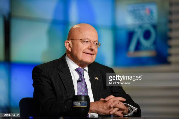 James Clapper Former Director of National Intelligence appears on 'Meet the Press' in Washington DC Sunday March 5 2017
